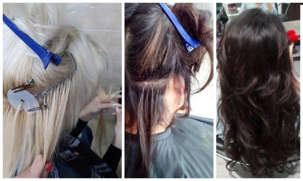Фото наращивания волос
