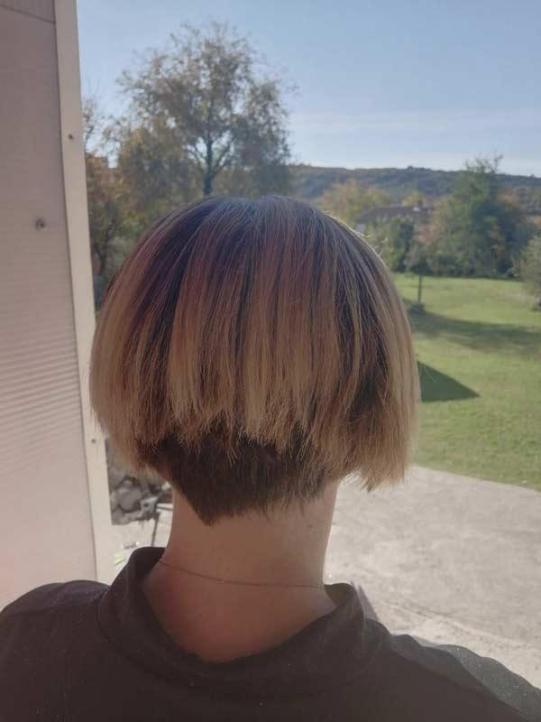 Наращивание волос - вид до процедуры