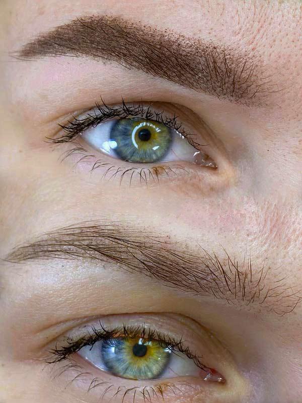 Перманентный макияж бровей. Мастер Елизавета Лазук
